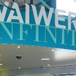 Waiwera Infinity - part of the entrance signage
