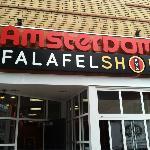 Falafelshop storefront in Davis Sq
