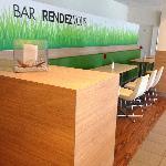 Bar/dining room.