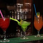 Colorful and delicious coctails