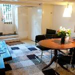 """Livingroom """"Delft Blue"""" Apartment"""