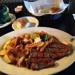 The Ribeye dish at the Bayou Grill was simply delicious! $$$$