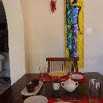 ontbijt in de woonkamer