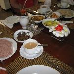 Breakfast-with some Sri Lankan specialties