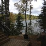 View from cabin of Clearwater Lake