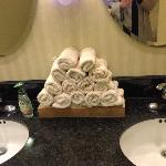 Handtowels in lobby restrooms