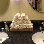 Handtowels in lobby restrooms