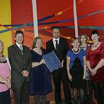 Sue and the Team receive their AA Award from Minister Leo Varadkar
