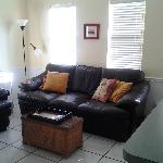 Living room view from master bedroom. Furniture very comfortable! Facing Northeast