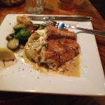 redfish filet w/ fall veg