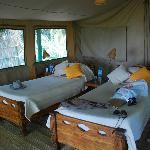 Very comfortable memory foam mattresses. Good ventilation, too.