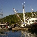 Ucluelet is a working fishing village.