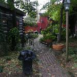 Garden area where you also check in.