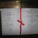 Lunch and dinner set menu