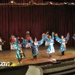 Ladies do the peacock dance