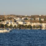 View of hotel in background from Adamas harbour