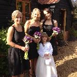 The bridesmaids at Little Willows in October 2012