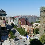 View from the 12th floor - Jinyu Hutong towards Wangfujing St