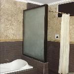 dark old bathroom, only the camera flash lit it.