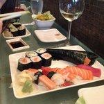 Bar service sushi platter