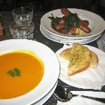 Bangers & Mash, Thai Pumpkin Soup & Garlic Bread