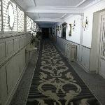 The hallway down to the dining areas