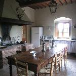 The communal kitchen area