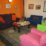 Open and colourful lounge.