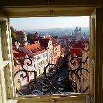 Vistas desde la ventana, calle Nerudova