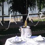 Mesa preparada en la terraza!!!