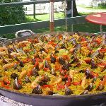 Paella para 70 comensales