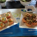 salmon rolls, yumm