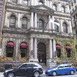 Hotel front in old Montreal
