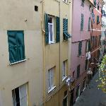 View of the narrow alley Il Borgo is on