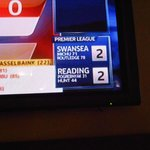 Swans just managed to draw!! Whoo! Sports Bar
