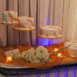 Cake set up beautifully