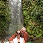 by the waterfall that we swam in. simon says was a great day out!