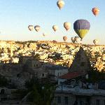 Goreme - balloons, early morning view from my room