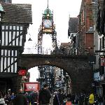 Eastclock and vicinity in Chester, England