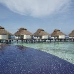 Pool and water bungalows