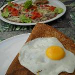 Lunch at Creperie St-Pierre - looks delicious does it not?