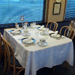 First Class dining.