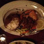 the pecan encrusted  salmon with maple glaze was super