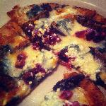Best pizza--spinach, beets, goat cheese, figs