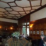 There was local paintings and etching of Scottish landscape on the walls