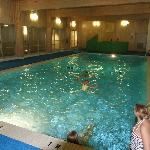 Indoor pool at the Lodge - an outdoor pool is by the Recreation center