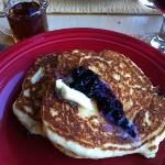 Delicious blueberry pancakes...a must have