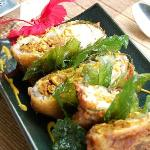 Deep fried fish stuffed with various thai herbs