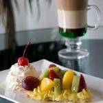 Tarta de frutas y café Moca Mint
