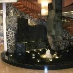 fish pond in reception